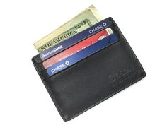 Goson Cowhide Leather Slim Thin Mens and Womens Credit Card Case Holder Wallet with Window ID *** To view further for this item, visit the image link. (This is an Amazon Affiliate link)