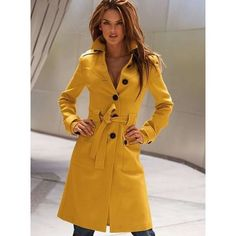 Victoria's Secret Mustard trench coat Classic wool trench with statement buttons down the center back. Victoria's Secret Jackets & Coats Trench Coats