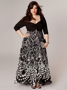 "Love the style, not too ""exposed"" but still sexy with the neckline. plus size maxi dresses with 3/4 sleeves 2016-2017 » B2B Fashion"