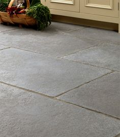 Old Church Distressed Grey Limestone Flooring Tiles = Love - Click the image to continue reading. Linoleum Flooring, Timber Flooring, Concrete Floors, Kitchen Flooring, Garage Flooring, Farmhouse Flooring, Parquet Flooring, Concrete Patio, Kitchen Tiles