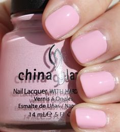 China Glaze Something Sweet.. LOVE soft pink! Got to have this!