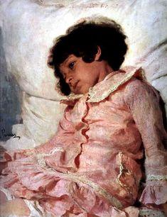 Nadia Repina, 1881 // Ilia Repin