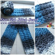Your place to learn how to Make The Star Fish Stitch Scarf for FREE. by Meladora's Creations - Free Crochet Patterns and Video Tutorials