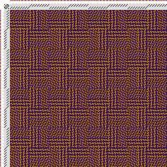 draft image: Figurierte Muster Pl. XL Nr. 6, Die färbige Gewebemusterung, Franz Donat, 6S, 6T