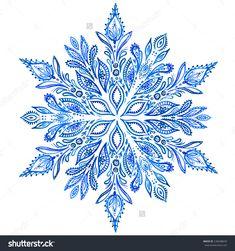 snowflake border blue white free - Google Search