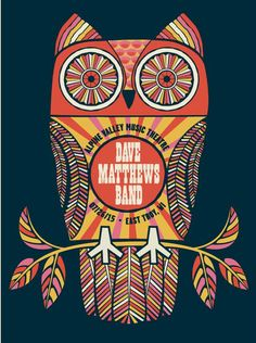 Dave Matthews Band Poster - Alpine Valley Music Theatre -Troy, MI - July 25th, 2015