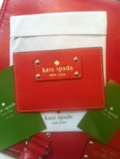 AUTHENTIC Kate Spade Wellesley Graham Card Case in Empire Red - $58