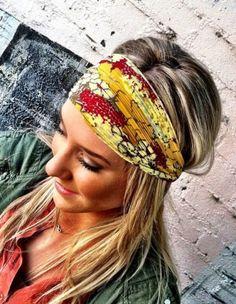 Lenços e faixas para os cabelos