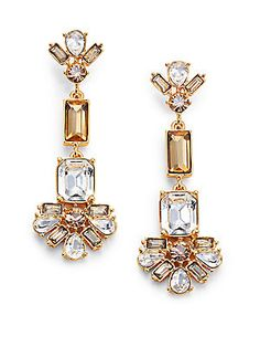 Kate Spade New York Crystal Arches Linear Drop Earrings