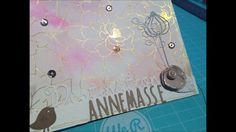 [ Pas à pas ] : Une couverture de mini-album grâce aux papiers aquarelle...