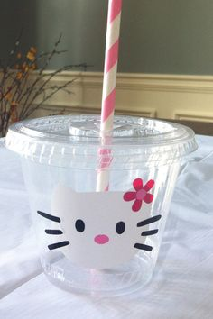 Hello Kitty Party Cups set of 12 by Owlsayit on Etsy, $14.99