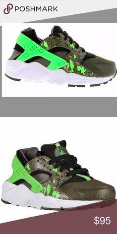 0d967e1c7405 Wmns Girls Nike Huarache Run Print sz 6.5y 7.5 w  Brand New