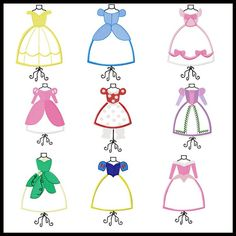 PRINESS Dress Form BUNDLE embroidery applique by stitchtastical, $27.00