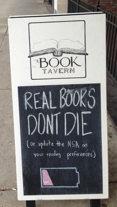 Real books don't run out of batteries.