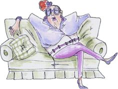 Art Impressions Lovelle on couch (Sku Old Lady Cartoon, Old Lady Humor, Art Impressions Stamps, Gifs, Smart Women, Love Signs, Old Women, Funny Kids, Funny Photos