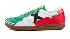 Cool MUNICH - G3 242 - Indoor Soccer / Futsal Shoe - White/Green/Red/Black - Italy/Mexico