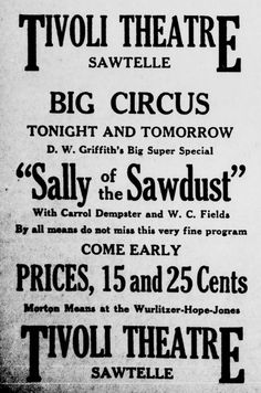 Morton Means is advertised to play on the Wurlitzer Hope Jones Organ for the two Silent Motion Pictures at the Tivoli Theater in Sawtelle, California. Source: Santa Monica Newspaper, November 17, 1925