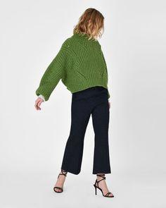 ISABEL MARANT LONG SLEEVE JUMPER D Farren oversize turtle neck purl-knit jumper r