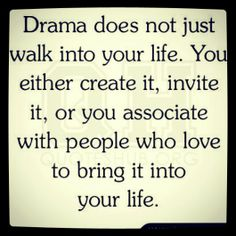 Drama Free is the way to be.
