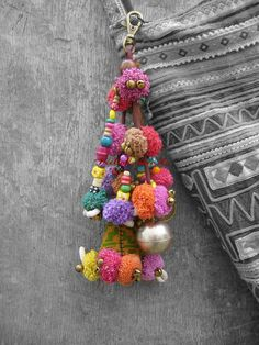 Tribal charms in Hmong style by cottonandloom on Etsy Diy And Crafts, Arts And Crafts, Bone Crafts, Ethno Style, Pom Pom Crafts, Crochet Decoration, Passementerie, Mode Style, Lana