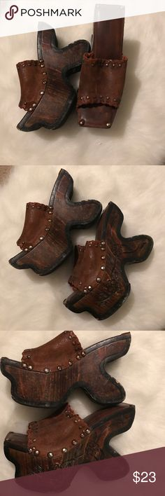 Super over the top clogs Super over the top clogs Dollhouse Shoes Mules & Clogs