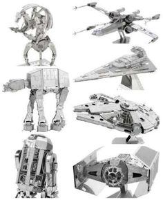 Star Wars Gift Idea 3D metal model kits ATAT Imperial Star Destroyer, Millennium Falcon R2D2 XWing Darth Vader