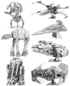 Star Wars Gift Idea 3D metal model kits ATAT Imperial Star Destroyer, Millennium Falcon R2D2 XWing Darth Vader