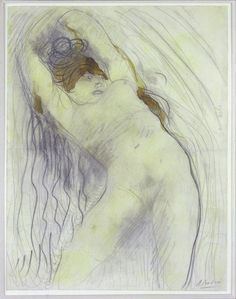 amare-habeo: Auguste Rodin (French, 1840-1917)Femme captive, 1905Pencil and watercolor, 32,5 x 24,5 cm