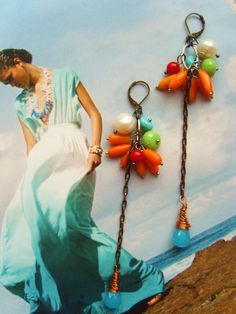 CLUB TROPICANA FRUITY bright gemstone real by TheEnglishEclectic, $65.00
