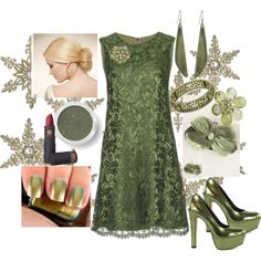 """""""CHRISTMAS PARTY#38 A VINTAGE CHRISTMAS"""" by itismebecky on Polyvore"""