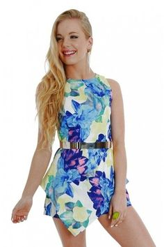 Floral  Playsuit $30  size sml  (Belt not included)