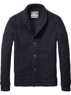 Knitted Bomber Jacket | Jackets & Coats | Men's Clothing at Scotch & Soda