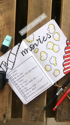 tracker idea : Inspiration bullet journalMOVIES tracker idea : Inspiration bullet journal If you're looking for bullet journal ideas for February, this post has 20 bullet journal ideas you can copy! Use your bullet journal to increase your produc. Bullet Journal Netflix, Bullet Journal 2019, Bullet Journal Tracker, Bullet Journal Notebook, Bullet Journal Junkies, Bullet Journal School, Bullet Journal Spread, Bullet Journal Ideas Pages, Bullet Journal Layout
