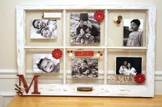 Amber Moody of My Crafty Corner has a great project on taking a vintage window and creating a beautiful photo display from it. Link.
