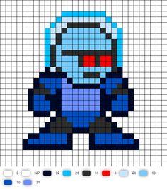 Mr. Freeze Perler Bead Pattern