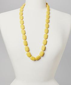 This Mustard Marilyn Teething Necklace is perfect! #zulilyfinds