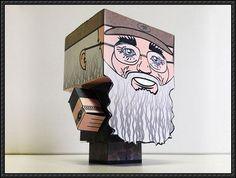 Duck Dynasty - Silas Merritt Si Robertson Cube Craft Free Paper Toy Download