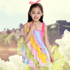 Cheap dress flag, Buy Quality dress pooh directly from China dress 60 Suppliers:         2015 summer girl candy color beach dress 3 4 5 6 7 8 9 10 11 12 13 years old chiffon girls baby girl cloth
