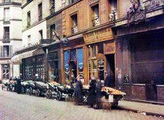 Albert Kahn.  Vintage Paris 1914.