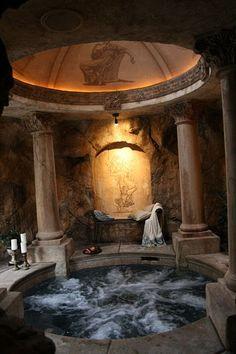 Roman inspired hot tub