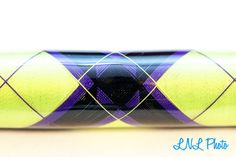 Purple and neon green wrap