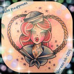 https://www.facebook.com/VorssaInk/, http://tattoosbykata.blogspot.com, #tattoo #tatuointi #katapuupponen #vorssaink #forssa #finland #traditionaltattoo #suomi #oldschool #pinup #sailor