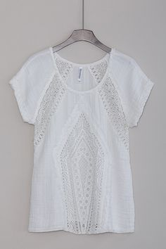 Cute Short Sleeve Top in White