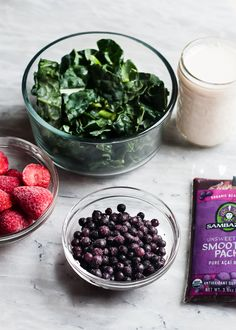Acai bowl ingredients looking super healthy and delicious