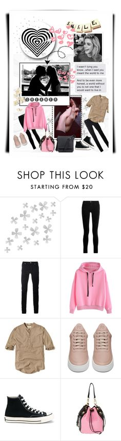 """study ... no love"" by silver-sun on Polyvore featuring Dot & Bo, Riley, J Brand, Diesel Black Gold, Hollister Co., Filling Pieces, Converse, Kenzo and Salvatore Ferragamo"