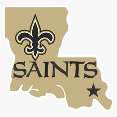 Orleans Saints Alternate Logo Die Cut Vinyl Decal Buy 1 Get 2 Free