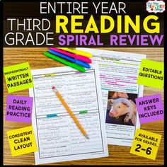 Grade Reading Homework or Morning Work Reading Homework, 3rd Grade Reading, Third Grade, Homework Ideas, Grade 3, Fourth Grade, Close Reading, Guided Reading, Reading Lessons