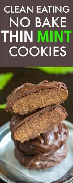 Healthy No Bake Thin Mint Cookies- Delicious, fudgy and sinfully nutritious, a delicious snack or dessert recipe which take 10 minutes to whip up! {vegan, gluten free, paleo recipe}- http://thebigmansworld.com