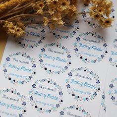 pegatinas decorar detalles de boda y regalos invitados