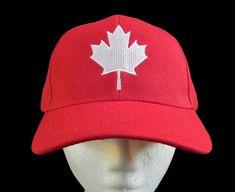 652a3de0e0c CANADA FLAG SOCCER BASEBALL BALL HAT CAP MAPLE LEAF RED WHITE CASQUETTE  CHAPEAU